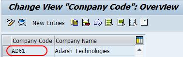 company code ad61