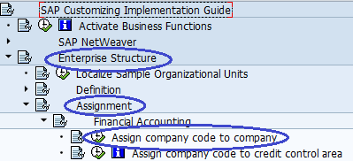 Assign company code to company path