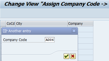 Assign company code to company