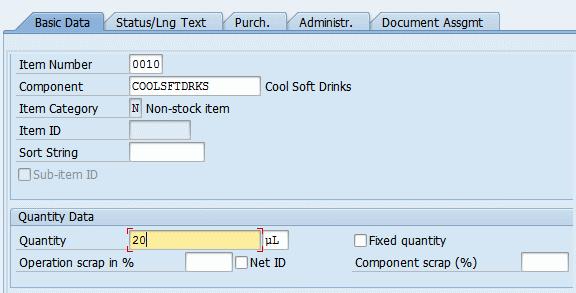 basic data bom
