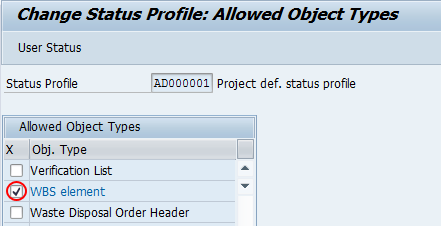 object types allowable sap