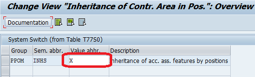 Activate Inheritance of Account Assignment Features