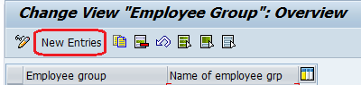 Employee Group entries