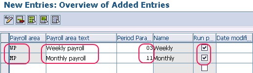 How to create payroll area in SAP