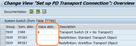 Set Up PDTransport Connection entries