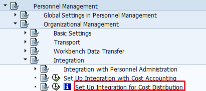 Integration with Cost Distribution Path