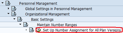 Set up Number Assignment for all Plan Versions