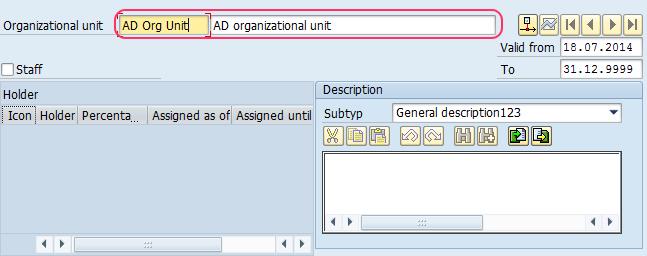 organizational unit details