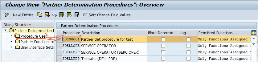partner procedure user