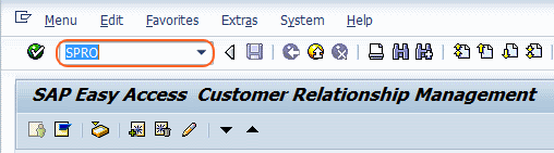 transaction code spro for sap reference IMG