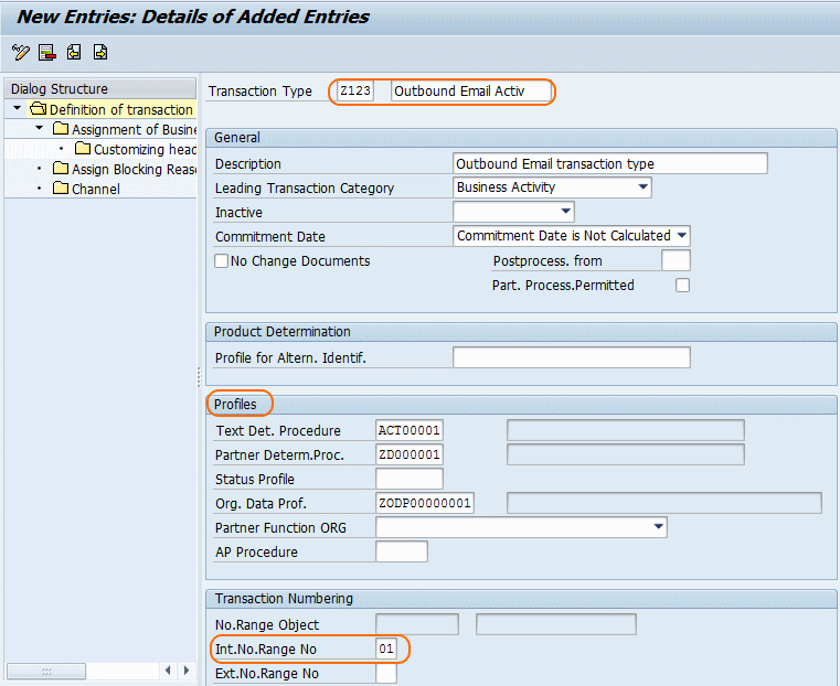 Define transaction types for Marketing Activities in SAP