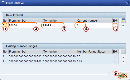 Define Number Range Intervals for Territory Hierarchy Levels