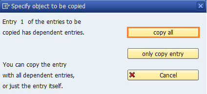 copy all entries of pricing procedure in SAP CRM