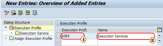 execution profile ps sap