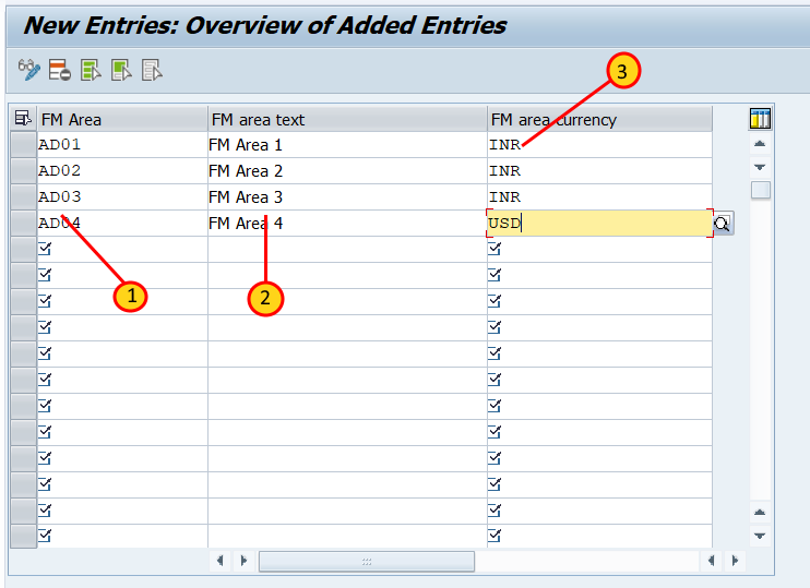 Create Financial Management Area in SAP