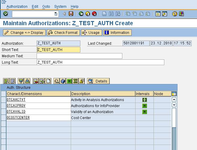 Analysis Authorizations 1