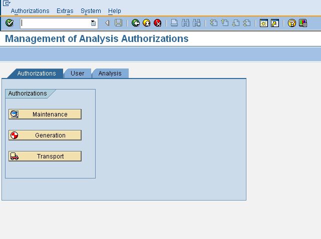 RSECADMIN - Authorizations