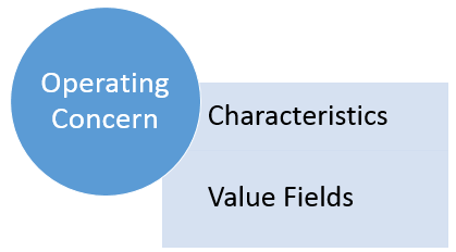 SAP Operating Concern Contains Characteristics and Value Fields