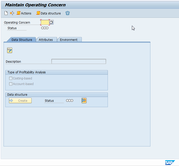 Maintain SAP Operating Concern