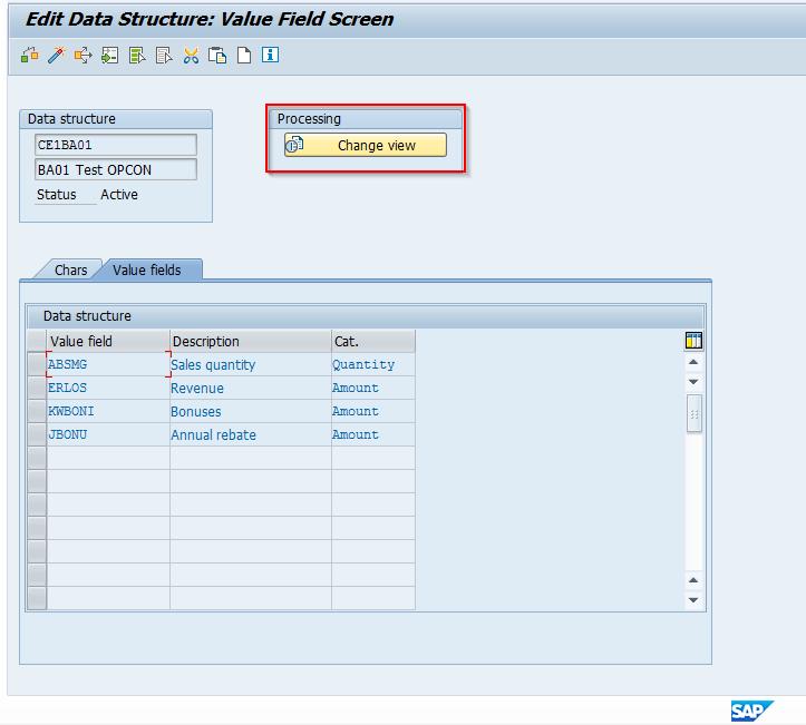 Value Fields Details in Data Structure